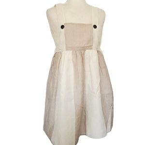 Alice + Olivia dress mini XS Cream tan beige Linen